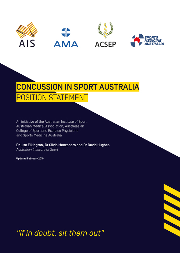 Concussion in sport Australia - Position Statement cover